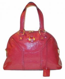Yves Saint Laurent Muse patent leather handbag