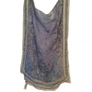 Emilio Pucci Ladies Blue Silk scarf