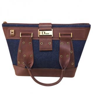Dior Denim and Leather Handbag