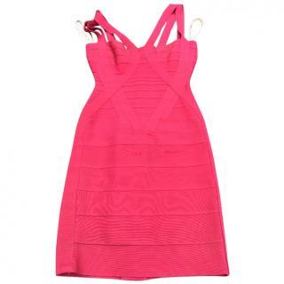 Herve Leger Red strap dress