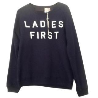 Zoe Karssen Blue 'Ladies First' Terry Cotton Sweatshirt
