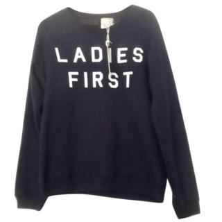 Zoe Karssen Blue 'Ladies First' Terry Cotton Sweatshirt