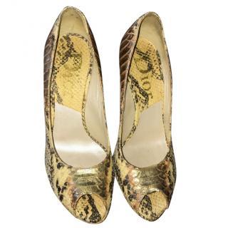Dior Python Heels
