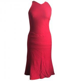 Alaia Red Sleeveless Mid Length Dress