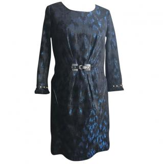 Matthew Williamson Black and Blue Printed Dress