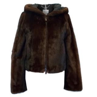 Celine Brown Mink Jacket