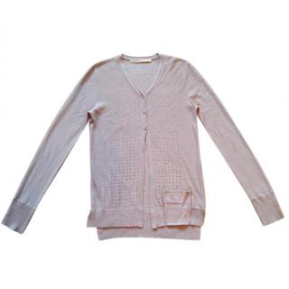 Schumacher Silk and Cashmere Taupe Cardigan