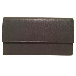 Gucci Grained Leather Wallet - Dark Grey