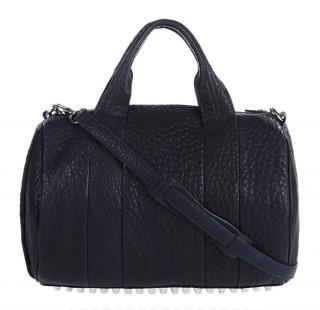 Alexander Wang Rocco Midnight Black Handbag Silver Studs & Hardware