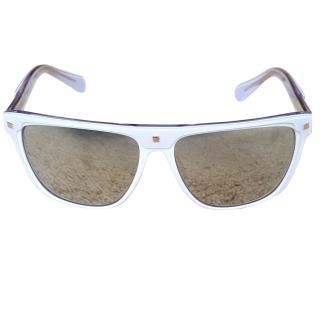 Balmain White Framed Sunglasses