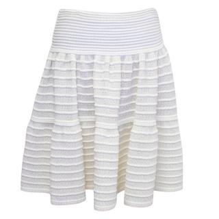 Alaia Cream Skater Skirt