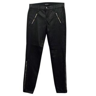 J Brand Carey Black Jeans with Metal Zippers