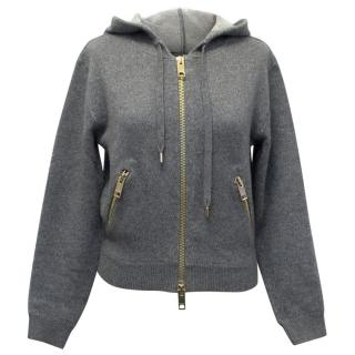 Burberry Cashmere and Cotton-blend Hooded Jumper