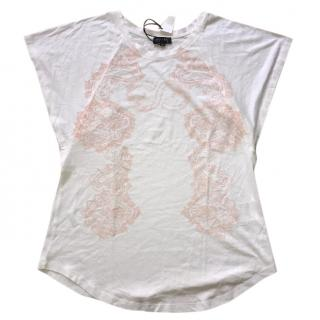 Escada Sport White and Pink Top