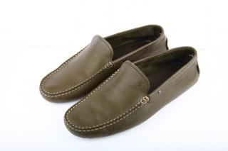 Tod's Gommino Loafers in Khaki