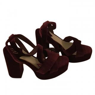 Ash Plateau Velvet Sandals