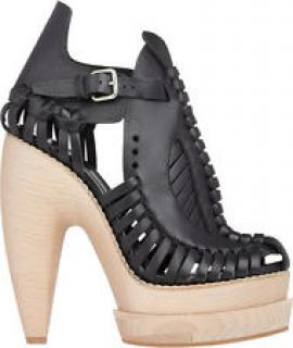 Proenza Schouler Huarache runway leather wooden platform sandals