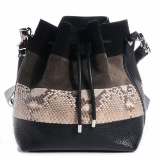 Proenza Schouler Medium Bucket Bag Python and Suede