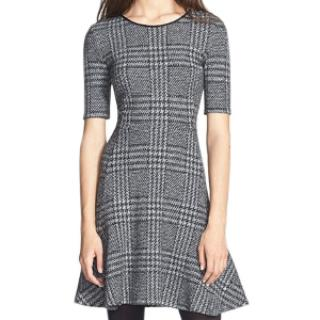 Theory Grey Houndstooth Dress