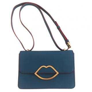 Lulu Guinness blue shoulder bag