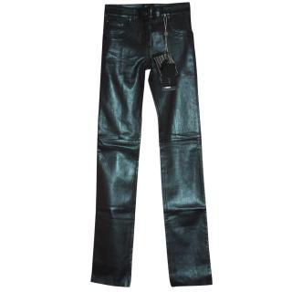 Jitrois Metallic Glove Stretch Leather leggings Fr 34