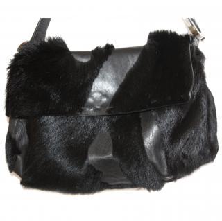 Emanuel Ungaro Black Calfskin/Leather Bag