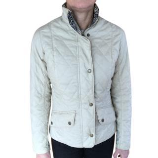 Barbour Beige Quilted Jacket