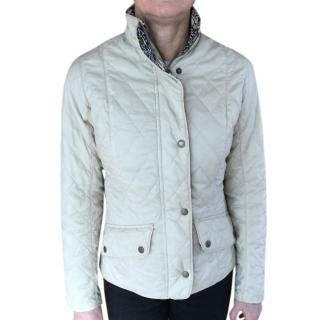Barbour Beige Quilted Jacket