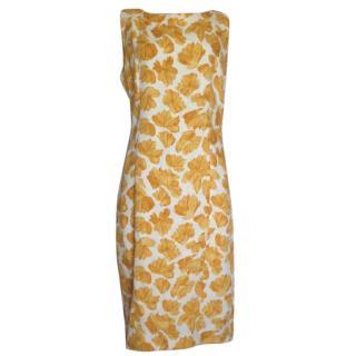 DSquared Linen Floral Mid Length Dress