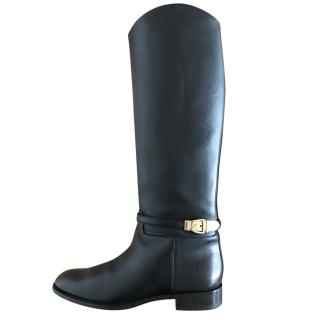 Gucci Leather Knee Length Boots
