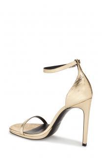 Saint Laurent Gold Lizard Print Jane sandals