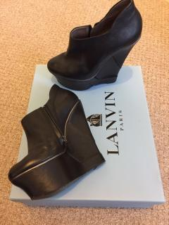 Lanvin 'Show 2010' black wedged booties
