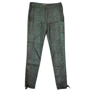 Matthew Williamson Silk Leopard Trousers UK 8
