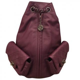 Chanel Purple Lambskin Backpack