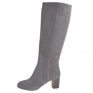 Rupert Sanderson Grey Suede Knee High Boots
