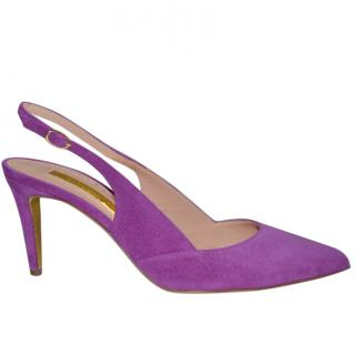 Rupert Sanderson Purple Suede High Heel Shoes/Pumps