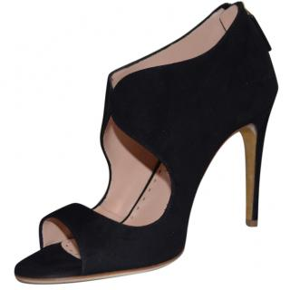 Rupert Sanderson Black Moyra Suede Shoes/Booties
