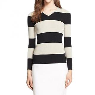 BURBERRY LONDON Striped Silk Top
