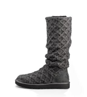 Ugg Classic Cardy Grey Knitted Boots Size 38
