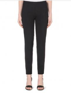 Theory smart black trousers with zip hem detail