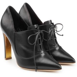 Rupert Sanderson Black Zena Leather Ankle Boots/Booties