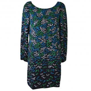 Issa Sequin-embellished silk-georgette dress