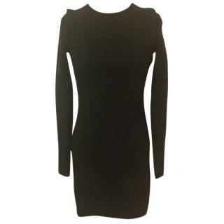 Pringle of Scotland Black Fitted Stretch Bodycon Dress