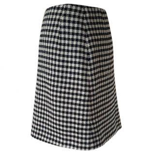 Gianni Versace Gingham check mini skirt