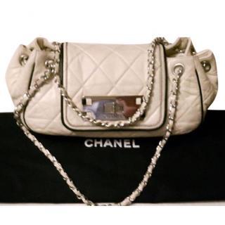 Chanel East West ivory cream leather shoulder bag
