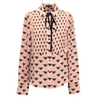 Markus Lupfer Pink Patterned Button Down Shirt
