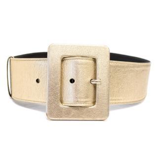 Yves Saint Laurent Metallic Gold Waist Belt