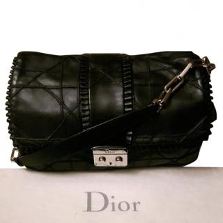 Dior Black Quilted Ruffle Leather New Lock Flap Bag