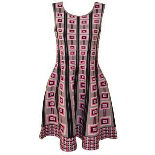Issa Dress, strech-knit Pink Beige Black