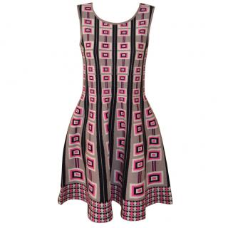 Issa Dress, strech-knit Pink Beige Black